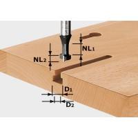 Drážkovací fréza tvaru T, HW, stopka 8 mm HW...